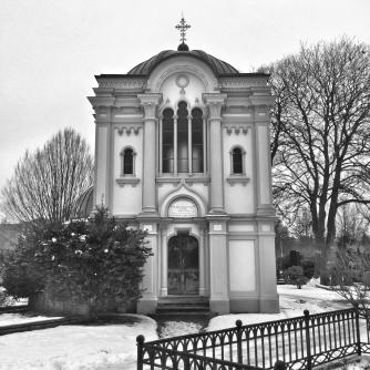 Kyrkogården bw - 30x30, 50x50 cm